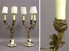 3394 Pair of Louis XVI Style GiltBronze Figural Three