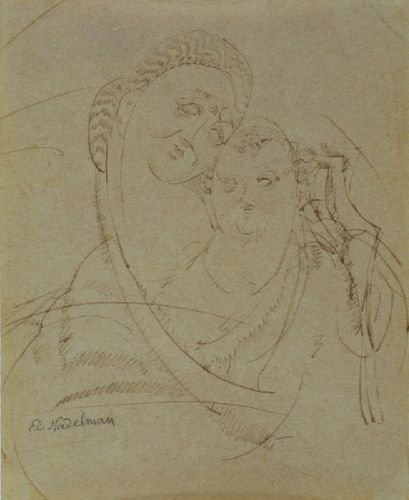 2: Elie Nadelman American, 1885-1946 MOTHER AND CHILD