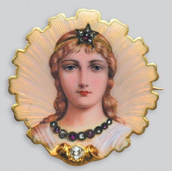 2005: Antique Gold, Enamel, Diamond and Ruby Portrait M