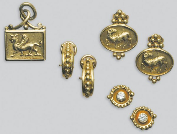 2006: Three Pairs of Gold Earrings and Pendant
