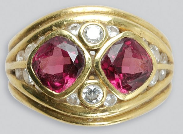 2007: Gold, Pink Tourmaline and Diamond Ring