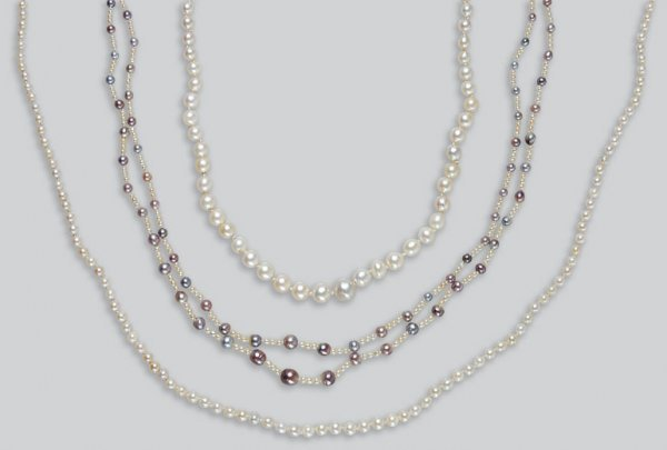 2009: Three Cultured Pearl Necklaces