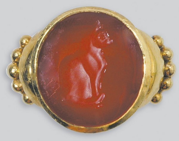 2012: Gold and Carnelian Intaglio Ring