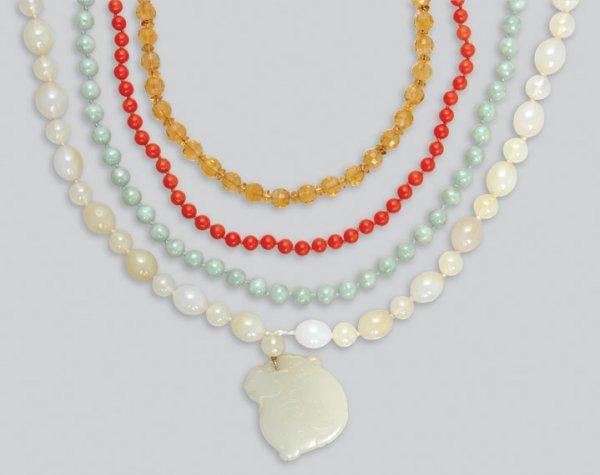 2018: Ten Assorted Bead Necklaces