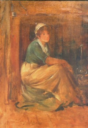 4: Henry Bacon American, 1839-1912 BESIDE THE HEARTH