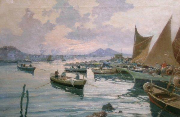 8: Bartolini Italian, 20th century THE BAY OF NAPLES WI