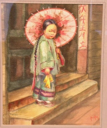 11: Attributed to Mary R. Hill Burton YOUNG CHINESE GIR