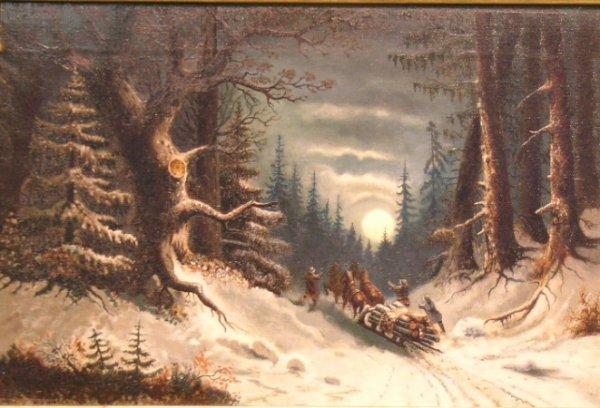13: Canadian School (?) 19th Century CANADIAN LOGGING S