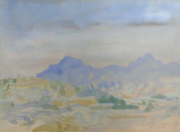18: Arthur Bowen Davies American, 1862-1928 TOWN SCENE