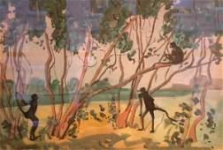 Jane Peterson American, 1876-1965 MONKEYS IN TREES