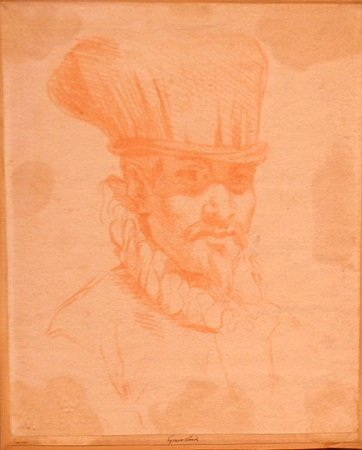 1003: After Annibale Carracci Italian, 1560-1609 MAN IN
