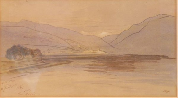 1017: Edward Lear, British, 1812-1888 VIEW OF TAGGIA