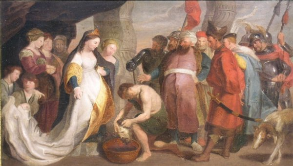 1022: Flemish School 17th Century QUEEN TOMYRIS AND THE