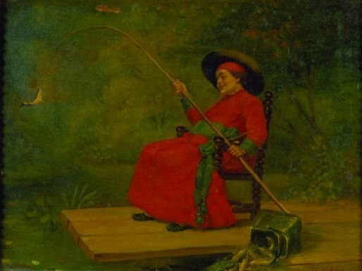2005: Jehan Georges Vibert French, 1840-1902 CATCH OF T