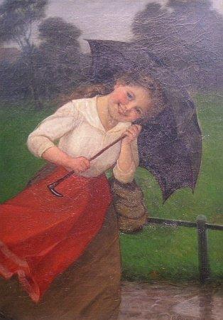 2009: Carl Von Bergen German 1853-1933 YOUNG GIRL IN WH