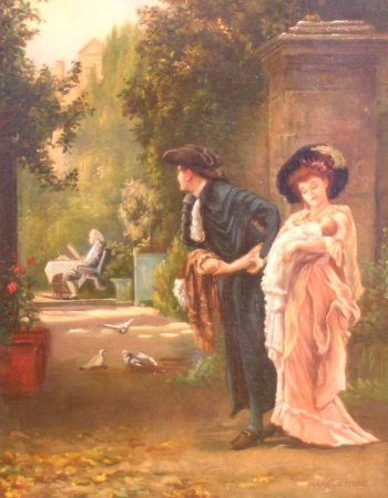 2017: Marcus Stone British, 1840-1921 MARRIED FOR LOVE