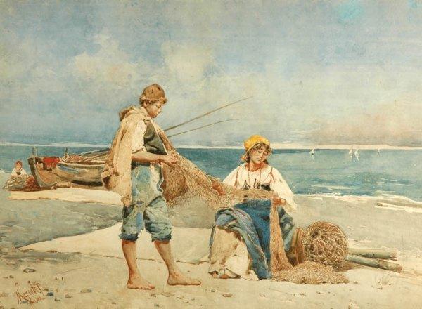 2023: Leopoldo Mariotti Italian, 1848-1916 THE NET MEND