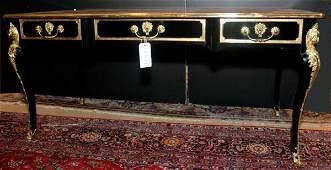 2672: Louis XV Style Gilt-Metal Mounted Ebonized Bureau