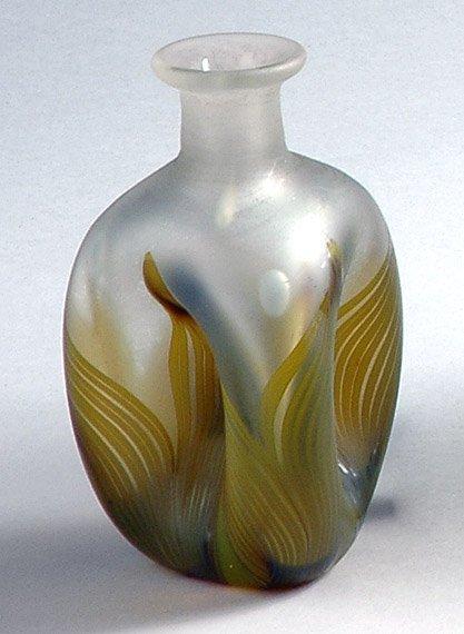 2686: American Art Glass Bottle