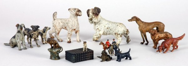 3011: Miscellaneous Group of Porcelain Figures of Dogs