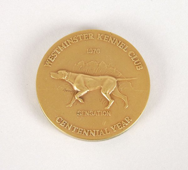 3014: Westminster Kennel Club Bronze Medal Dated 1976 a