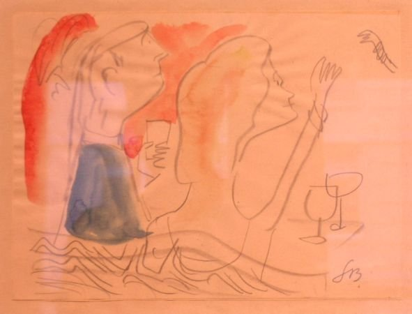 3: Ludwig Bemelmans American, 1898-1962 A DINNER GREETI