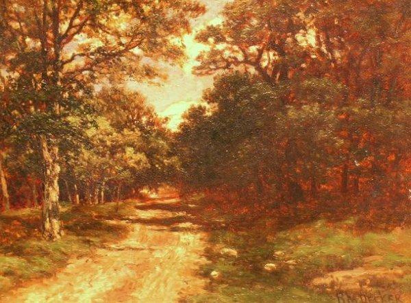 12: Robert M. Decker American, 1847-1912 WOODED LANDSCA