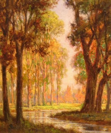 16: George Fox American, 20th century A SUNLIT WOODED L