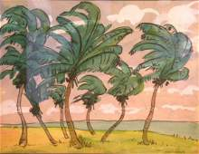 33 Jane Peterson American 18761965 PALM TREES FLORI