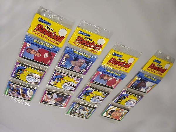 4001: Four Packages of Baseball Cards