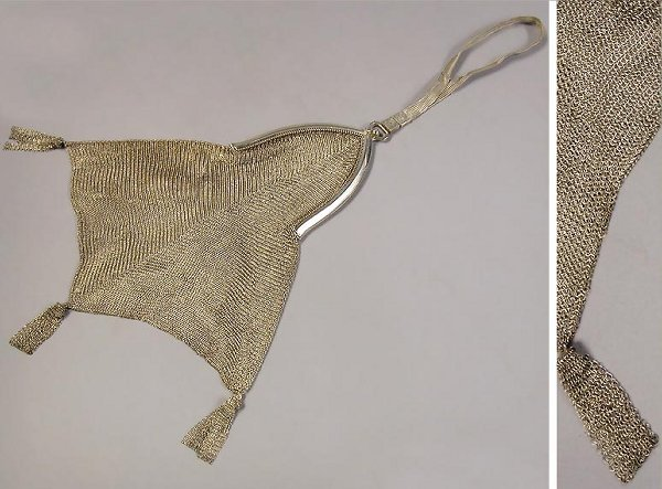 4005B: Silver Mesh Evening Bag