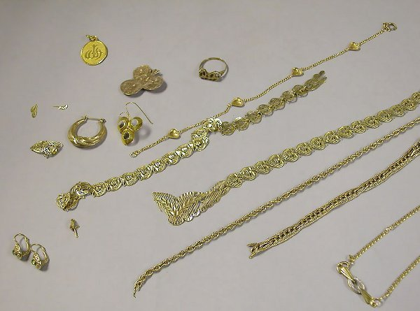 4008: Group of Assorted Gold and Gold-Filled Jewelry