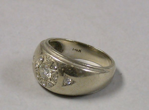 4012: Gentleman's Diamond Ring