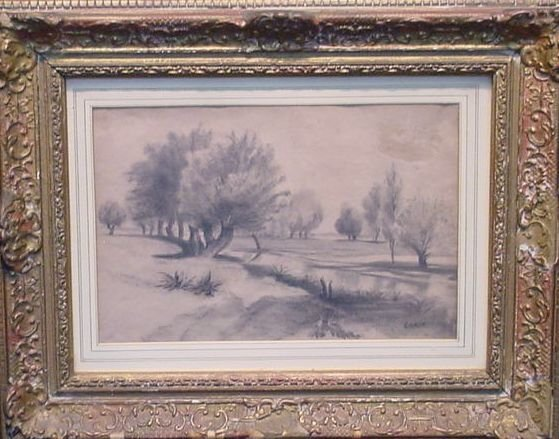 5022: Manner of Jean-Baptiste Camille Corot RIVER LANDS