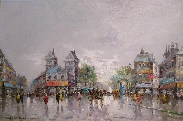 1011: Manner of Antoine Blanchard STREET IN PARIS