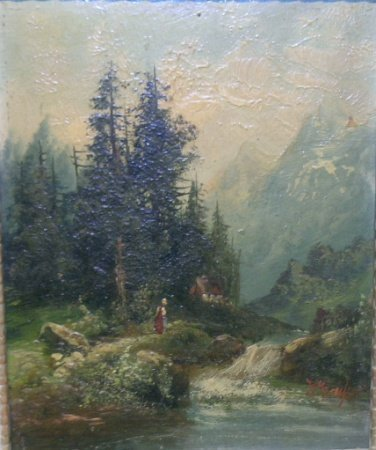1019: Continental School 19th Century WOODED LANDSCAPES