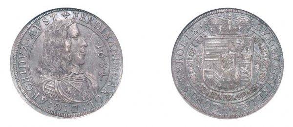 2010: AUSTRIA: Hall Mint, 1654, 1/2 Thaler, KM. #832