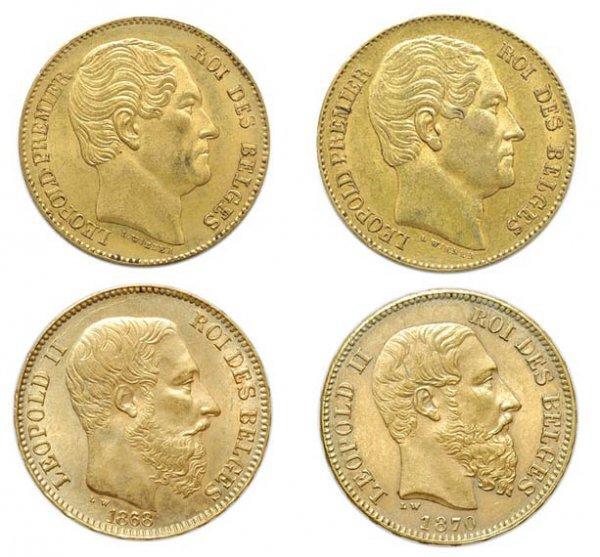 2023: BELGIUM: Four 20 Francs