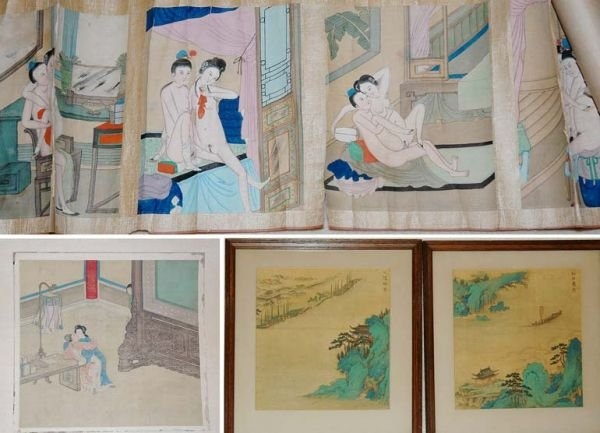 3002: Chinese Erotic Album; Together with Two Framed La