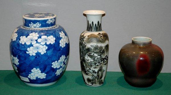 3005: Three Chinese Porcelain Vases