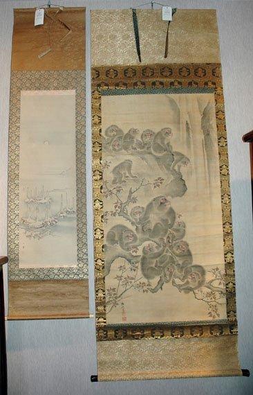3010: Japanese School Two hanging scrolls