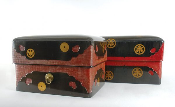 3011: Pair of Japanese Lacquered Boxes