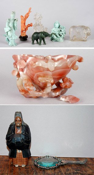 3015: Group of Chinese Hardstone Articles