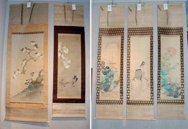 3018: Japanese School Five hanging scrolls