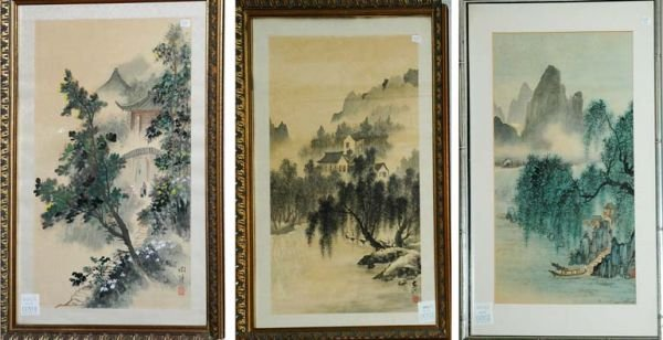 3024: Group of Three Chinese Landscape Paintings