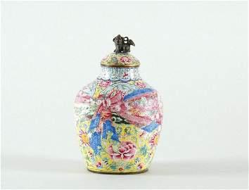 3181: Chinese Enameled Vase