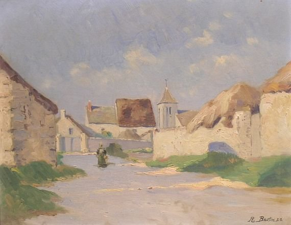 4005: R. Bautin French, 20th century VILLAGE IN THE SUN