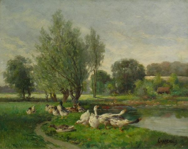 4015: Jacques van Coppenolle Swiss, 1878-1915 GEESE ON