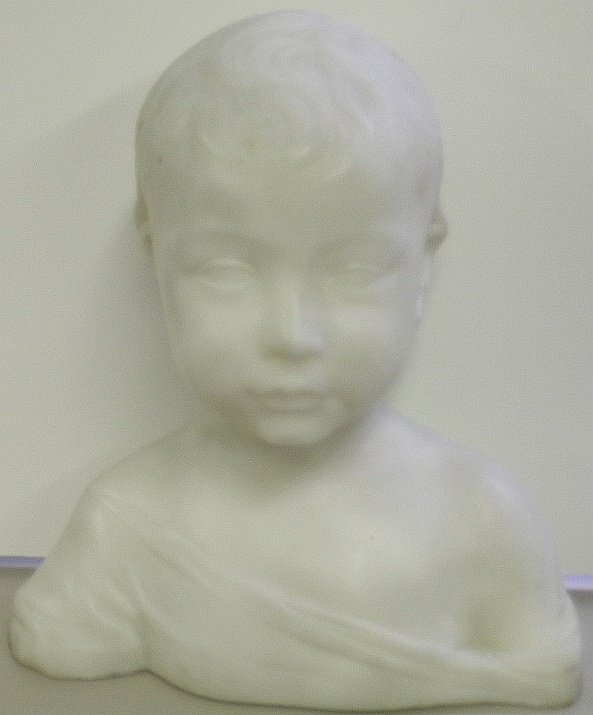 4021: French School 19th/20th Century BUST OF A YOUNG B