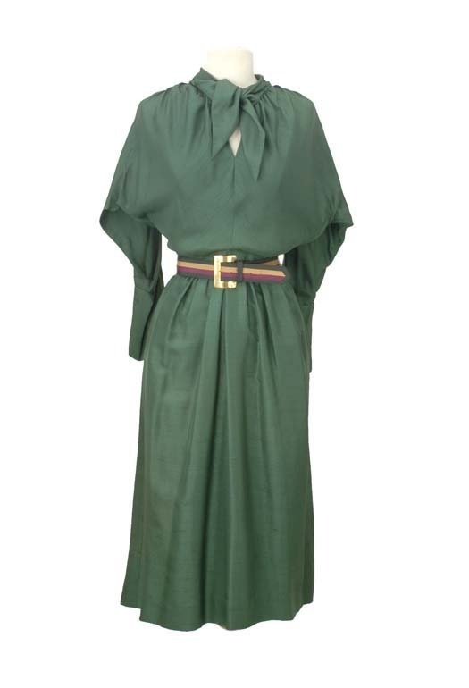 23: Claire McCardell Forest Green Day Dress